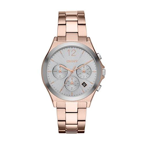 DKNY NY2453 PARSONS Chronograph Uhr Damenuhr Edelstahl 50m Analog Chrono Datum rose