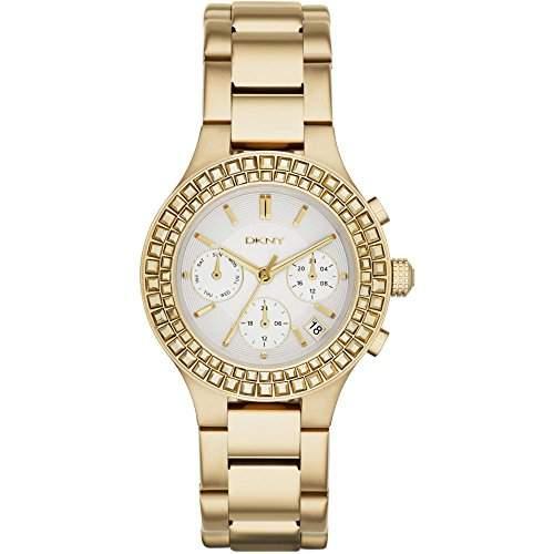 DKNY Damen-Armbanduhr Chronograph Quarz Edelstahl beschichtet NY2259