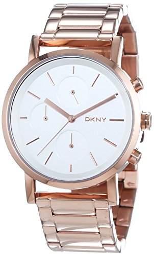 DKNY Damen-Armbanduhr Chronograph Quarz Edelstahl beschichtet NY2275