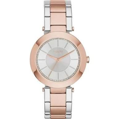 DKNY Damen-Armbanduhr Digital Quarz Edelstahl NY2335
