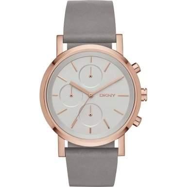 DKNY Damen-Armbanduhr Digital Quarz Leder NY2338