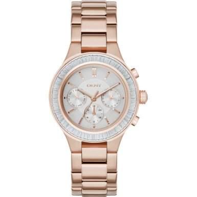 DKNY Damen-Armbanduhr Digital Quarz Edelstahl NY2396
