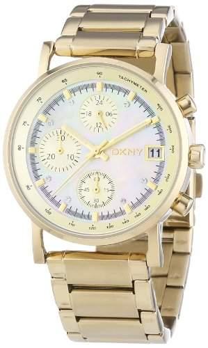 DKNY Damen-Armbanduhr XS Chronograph Quarz Edelstahl NY4332