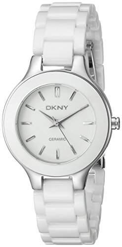 DKNY Damen-Armbanduhr Analog Quarz Keramik NY4886