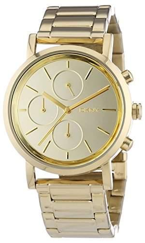 DKNY Damen-Armbanduhr Chronograph Quarz Edelstahl beschichtet NY8861
