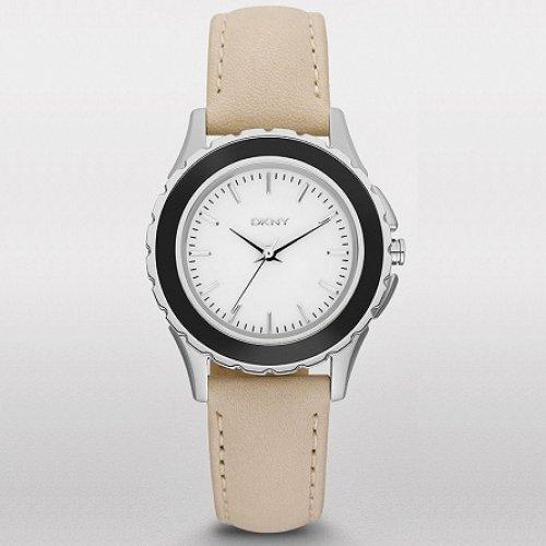 dkny damen armbanduhr analog quarz edelstahl ny8661
