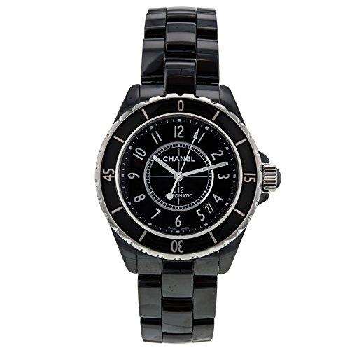 Chanel J12 h0685 schwarz Keramik Edelstahl 38 mm Automatische Damen Armbanduhr
