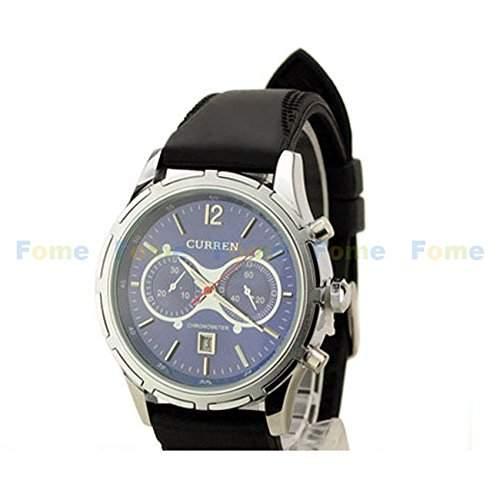Schaumstoff CURREN Fashion Damen und Herren-Armbanduhr Quarzwerk Schaumstoff Geschenk CURREN 1 Black beltBlack shellBlack face
