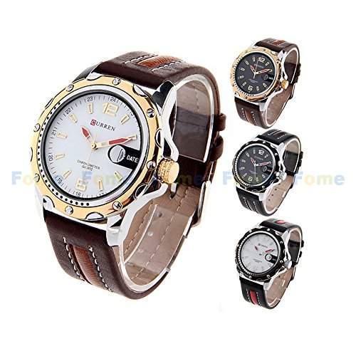 Schaumstoff CURREN Fashion Damen und Herren-Armbanduhr Quarzwerk Schaumstoff Geschenk