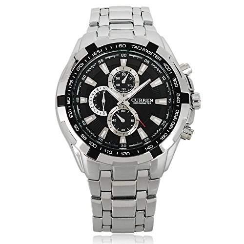UNIQUEBELLA Herrenuhr Uhr Armbanduhr Quarzuhren Watch Sportuhr Edelstahl Armband #4