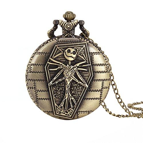 UNIQUEBELL Adler Design Taschenuhr mit Kette Quarzwerk arabische Ziffern Vintage Design Kette Pocket Watch Geschenk 9