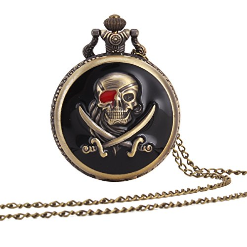 UNIQUEBELL Adler Design Taschenuhr mit Kette Quarzwerk arabische Ziffern Vintage Design Kette Pocket Watch Geschenk 14