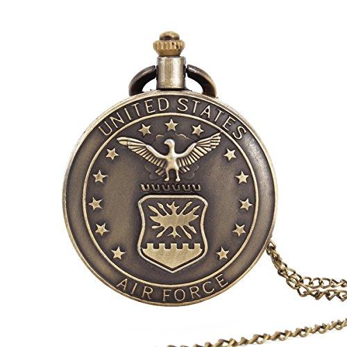 UNIQUEBELL Adler Design Taschenuhr mit Kette Quarzwerk arabische Ziffern Vintage Design Kette Pocket Watch Geschenk 6
