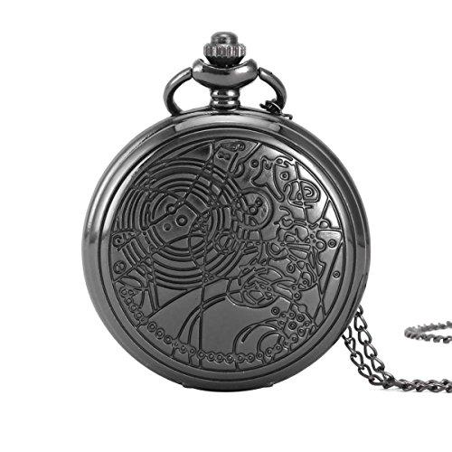 UNIQUEBELL Adler Design Taschenuhr mit Kette Quarzwerk arabische Ziffern Vintage Design Kette Pocket Watch Geschenk 1