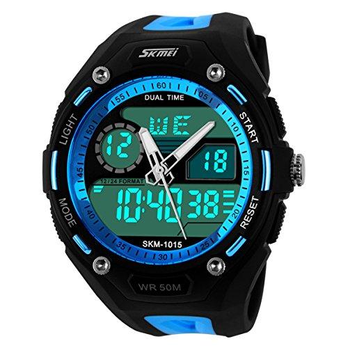 UNIQUEBELLA Armbanduhr LED Digitaluhr Sportuhr Herren Damen Watch Uhr Alarm Datumanzeige Silikon Wasserdicht Xmas Geschenk Watch 1