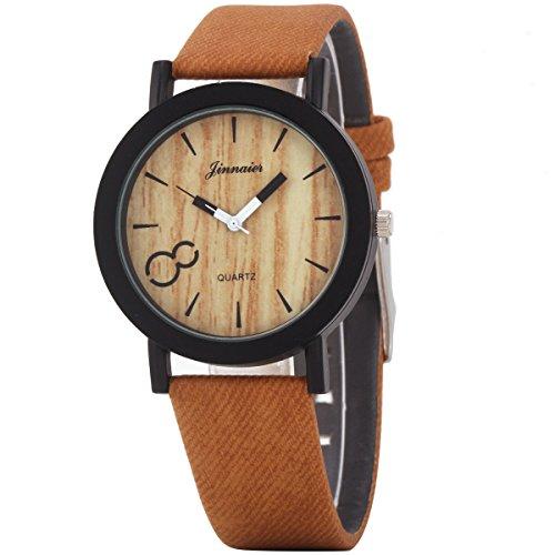 UNIQUEBELLA Armbanduhr Damen Leuchtzeiger Armband Uhr Sportuhr Leder Armband Watch Geschenk 2