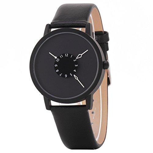 UNIQUEBELLA Herren Damen Frauen Quarz Edelstahl analoge Leder Armbanduhr Armband Uhr Geschenk Watch Gift 9