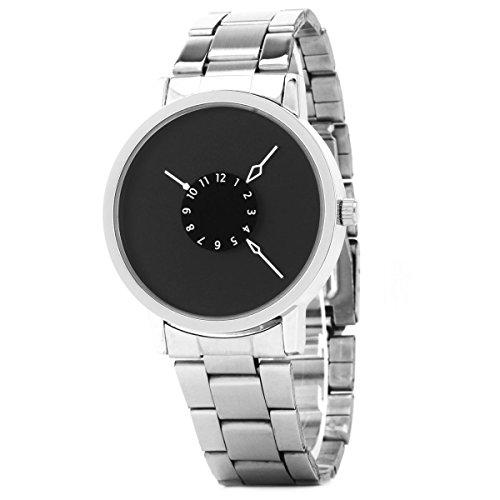 UNIQUEBELLA Herren Damen Frauen Quarz Edelstahl analoge Armbanduhr Armband Uhr Geschenk Watch Gift 2