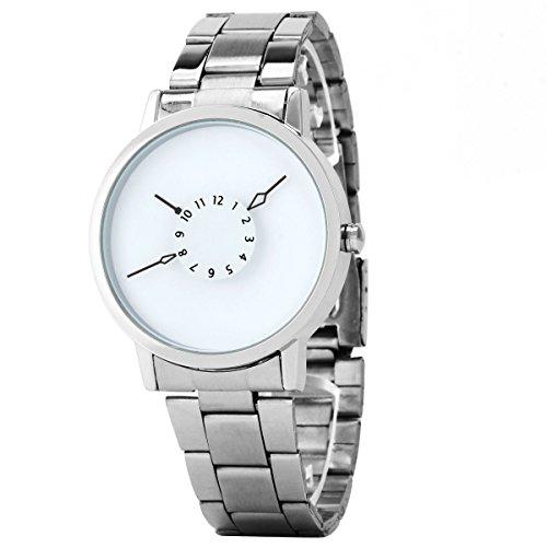UNIQUEBELLA Herren Damen Frauen Quarz Edelstahl analoge Armbanduhr Armband Uhr Geschenk Watch Gift 1
