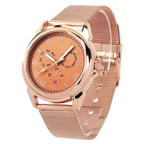UNIQUEBELLA Mode Quarz Analog Uhr Quarzuhr Armbanduhr Edestahl Fashion Watch Weihnachten Geschenk Xmas Gift