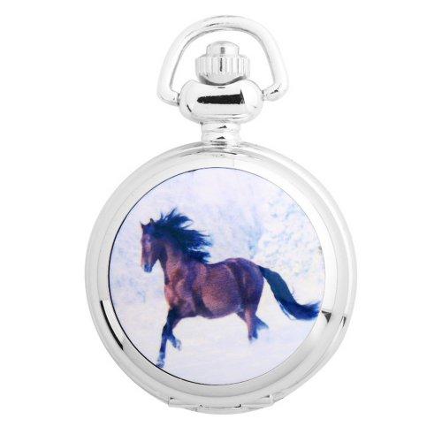 UNIQUEBELLA Taschenuhr Pferde