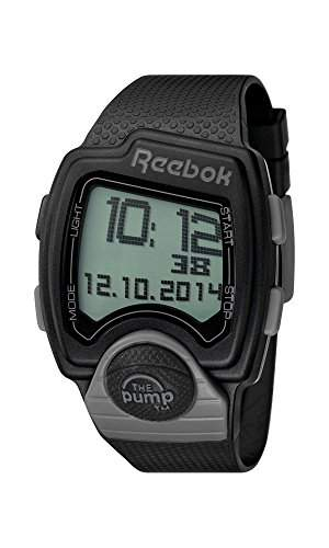 Reebok RC-lagig, G9, PaPa-BA Herren-Armbanduhr, Digital, Stoppuhr, Alarm-Armband Silikon, Schwarz