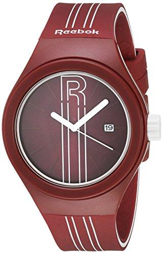 Reebok Icon Rush Analog Armbanduhr Super Soft Silikonband Wein 50 m WR