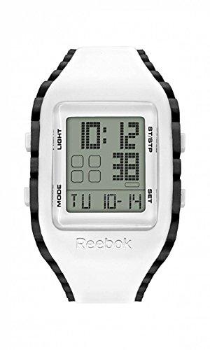 Reebok Armbanduhr rf wz1 g9 pwiw bb Workout Z1G Grau Schwarz Ziffern Zifferblatt Silikon