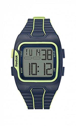 Reebok Armbanduhr rfws1g9plpl mb Workout SZ1 grau gruen Ziffern Zifferblatt PU Batik blau Citrus Glow
