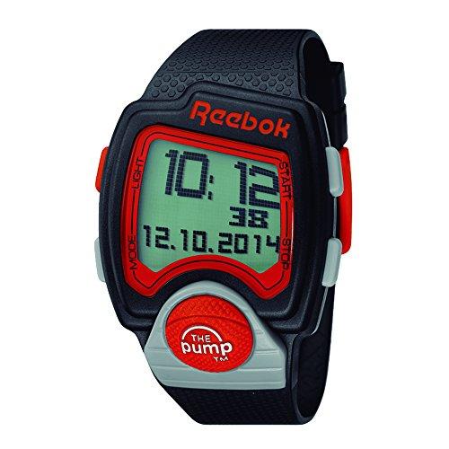 Reebok RC PLI G9 PBPB BO Quarz Digital Stoppuhr Alarm Armband aus Silikon Schwarz