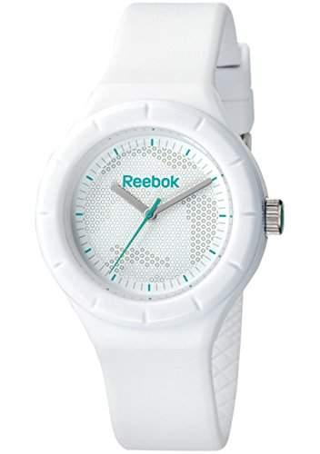 Reebok Training WomenQuarz-Uhr mit weissem Zifferblatt Analog-Anzeige und weisse Silikon Strap-RF TWC-L2-PWPW-WT