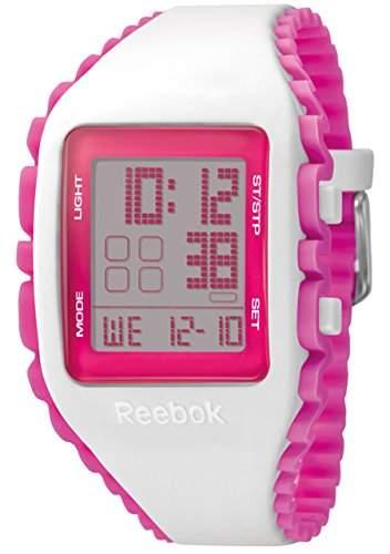 Reebok-RF-WZ1 G9, PP-PWIP Damen-Armbanduhr, Digital-AlarmCountdown, Dualzeit Analog Silikon Mehrfarbig