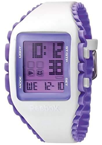 Reebok Workout Womens Quarzuhr mit Lila Dial Digital Display und Silikon mehrfarbig, RF-WZ1, G9-PWIU-UB