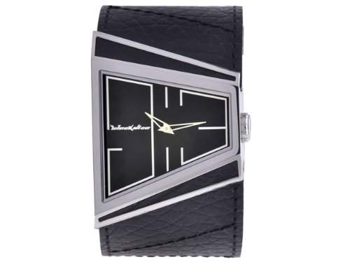 Black Dice Herren-Armbanduhr Analog Leder weiss BD 003 03