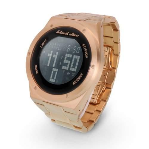 Black Dice Herren-Armbanduhr Digital Edelstahl gold BD 061 03