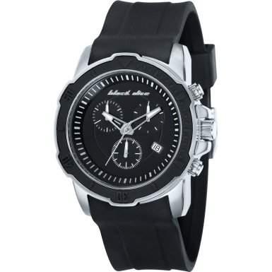 Black Dice Herren-Armbanduhr Chronograph Quarz Silikon BD 066 01