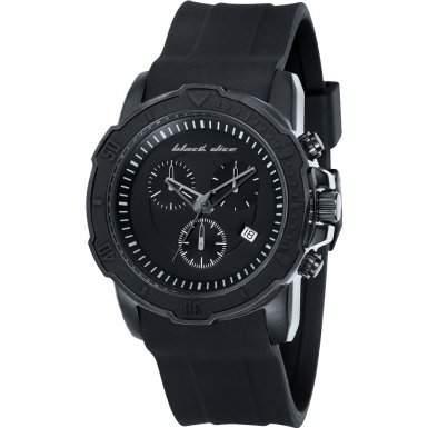Black Dice Herren-Armbanduhr Vibe Chronograph Silikon Schwarz BD 066 02