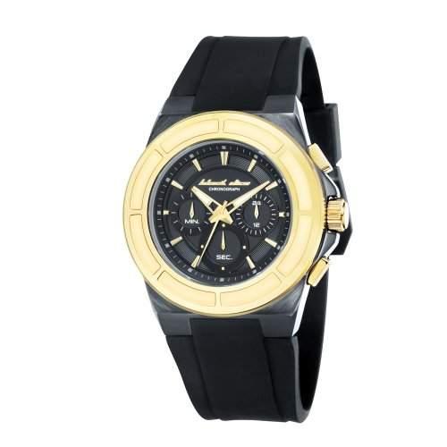 Black Dice Herren-Armbanduhr The Veteran Chronograph Silikon Schwarz BD 068 04