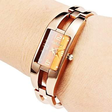 LZX Frauen Hollow Stil Legierung Analog Quarz Armband Watch Bronze