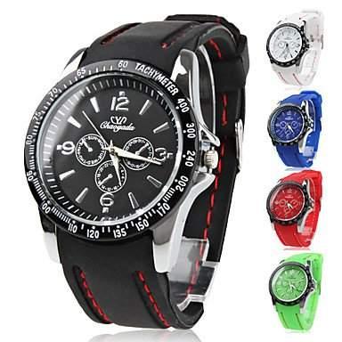 LZX Silikon-Band Quarz-Armbanduhr , Rot