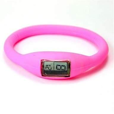 LZX Digitale Silikon-Band Unisex-Armband-Uhr verschiedene Farben , Schwarz