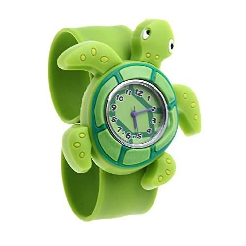 Kinderuhr Jungen Maedchen Uhren Armbanduhr Quarzuhr Silikon Gruen Lieblich Trend