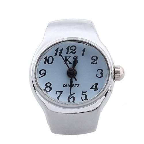 Ring Uhr Damen Ringuhr Fingeruhr Uhrenring Quarzuhr Legierung Laessig Gefragt NEU