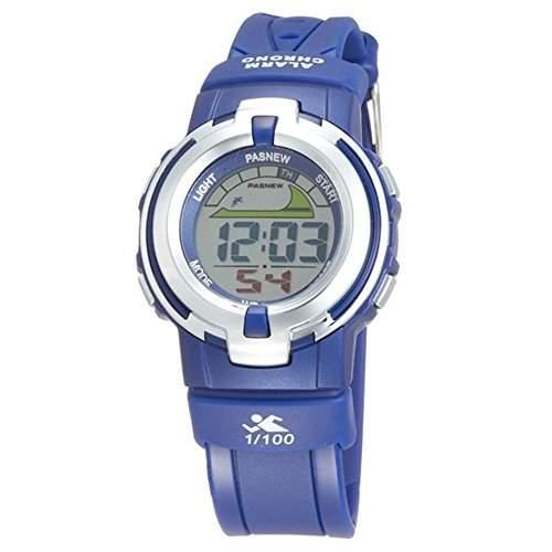 R-timer PASNEW Laessige wasserdichte Sport-Digital-Armbanduhr-Hintergrundbeleuchtung Stoppuhr Alarm fuer Maedchen Jungen blau