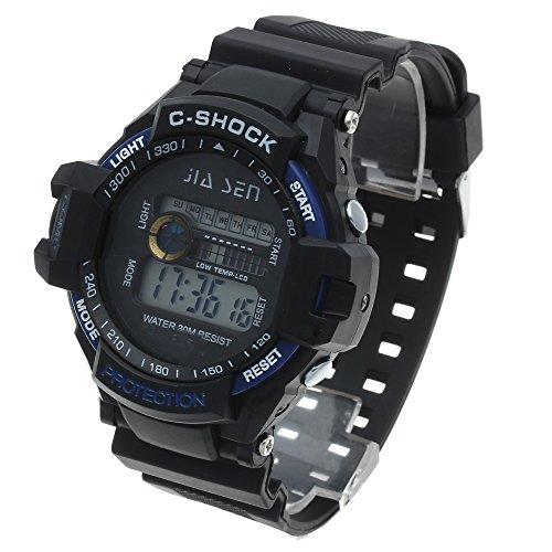 Herren Digital Uhr LED Armbanduhr Sportuhr Outdoor Wasserdicht Kalender In Neu