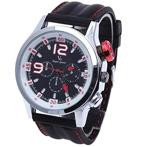 FACILLA Armbanduhr Sport Quarzuhr Herrenarmbanduhr Silikon Armband Modisch NEU