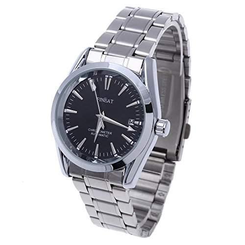 Herren Uhr Herrenuhr Armbanduhr Edelstahl mit Kalender HOT