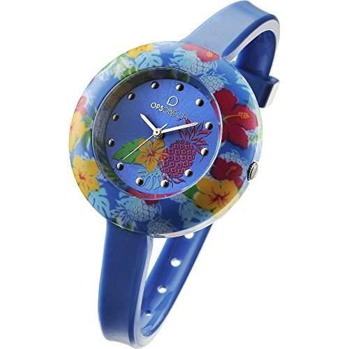OPS Uhren TROPICAL Damen Uhrzeit Blau - OPSPW-211