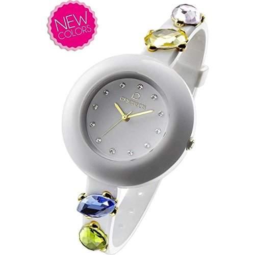 OPSOBJECTS · OPS!STONE WATCHES · Armbanduhr | Uhrarmband | Uhrband · weiss blau gold
