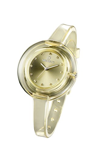 OPSOBJECTS OPS NUDE WATCHES Armbanduhr Uhrarmband Uhrband champagner transparent silber